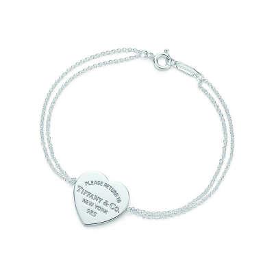 Tiffany & Co. -  Return to Tiffany™ heart tag bracelet in sterling silver, medium.