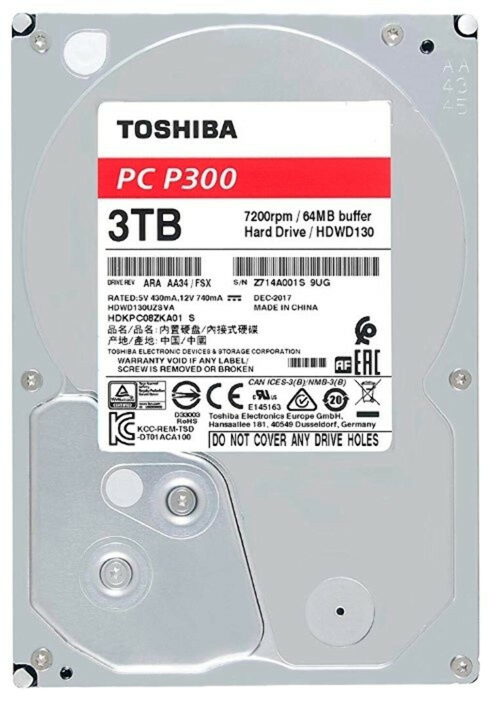 Жесткий диск Toshiba HDWD130UZSVA 3Tb