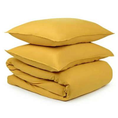 Комплект постельного белья горчичного цвета
