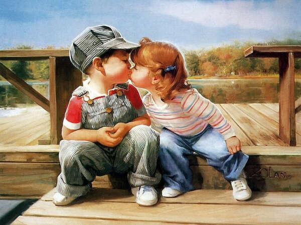 Первый поцелуй)