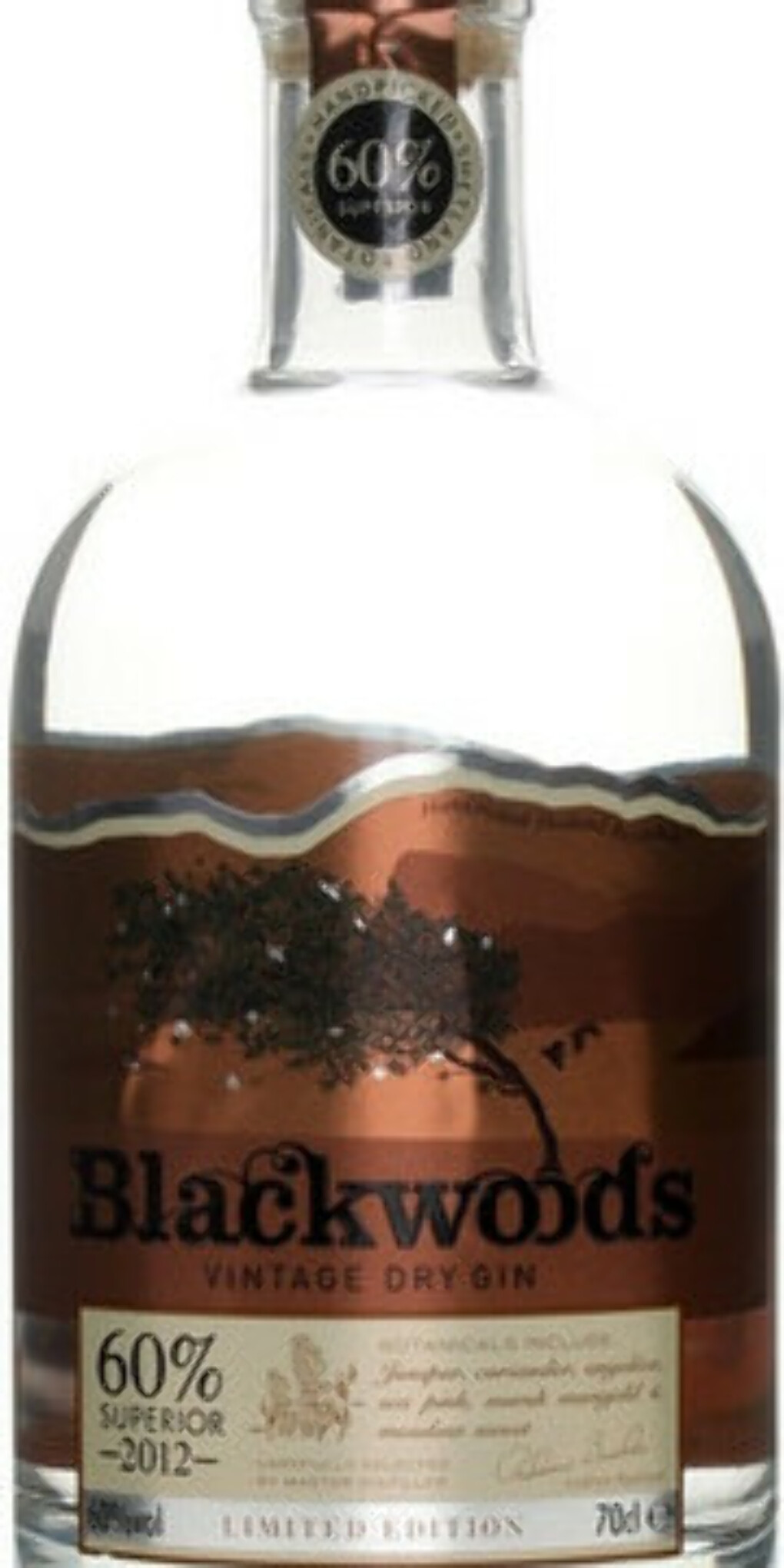 """Blackwoods"" Vintage Dry Gin 60% Limited Edition, 2012, 0.7 л"
