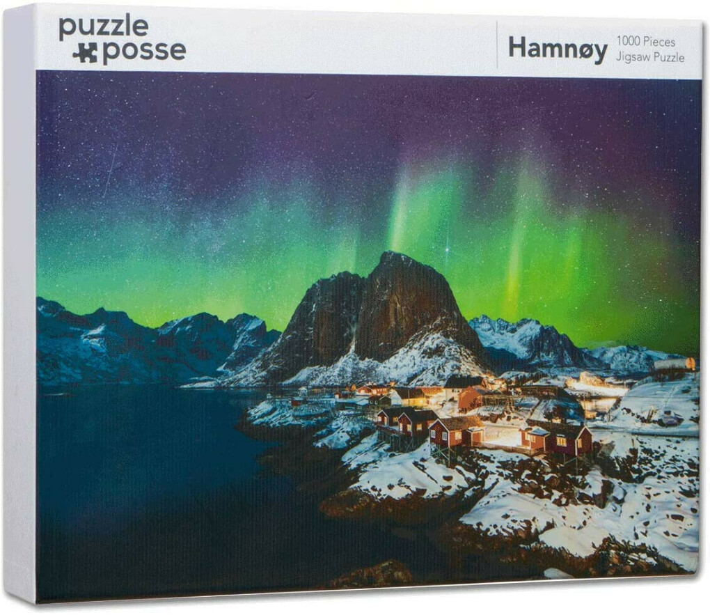 Puzzle Posse - 1000 Piece Jigsaw Puzzle for Adults, Teens, Families - Fun, Hard, Challenging Jigsaw with Natural Scenery Gloss Printing (Hamnøy, Norway)