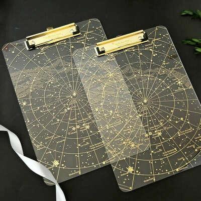 Клипборд планшет с зажимом с созвездиями