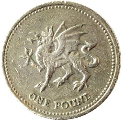 Уэльский фунт с драконом