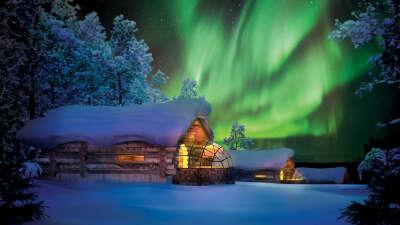 Провести выходные в стеклянном полу-иглу, Финляндия