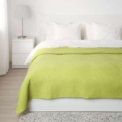 ВОРЕЛЬД Покрывало, светло-зеленый, 230x250 см - IKEA