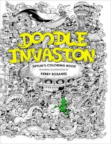 Книга для творчества и вдохновения - Doodle Invasion