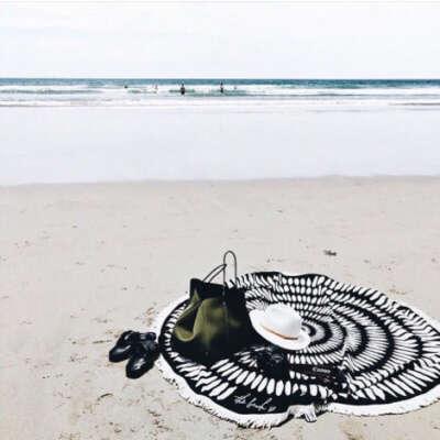 Круглое пляжное покрывало The Beach People