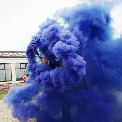 Дымовая шашка фиолетовая