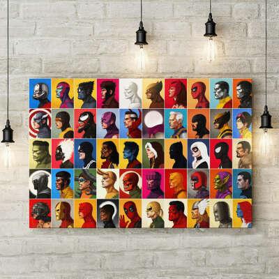 Марвел | Картина Супергерои 40*60 см