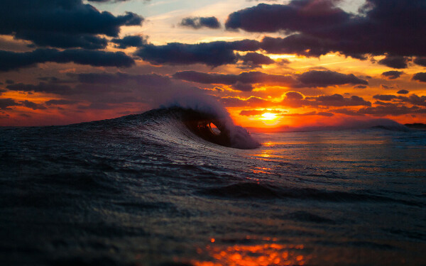 Встретить закат у океана