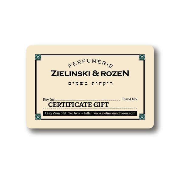 Подарочный сертификат Zielinski & Rozen