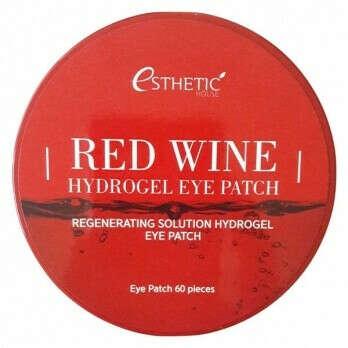 Патчи для глаз с красным вином Esthetic House Red Wine Hydrogel Eye Patch