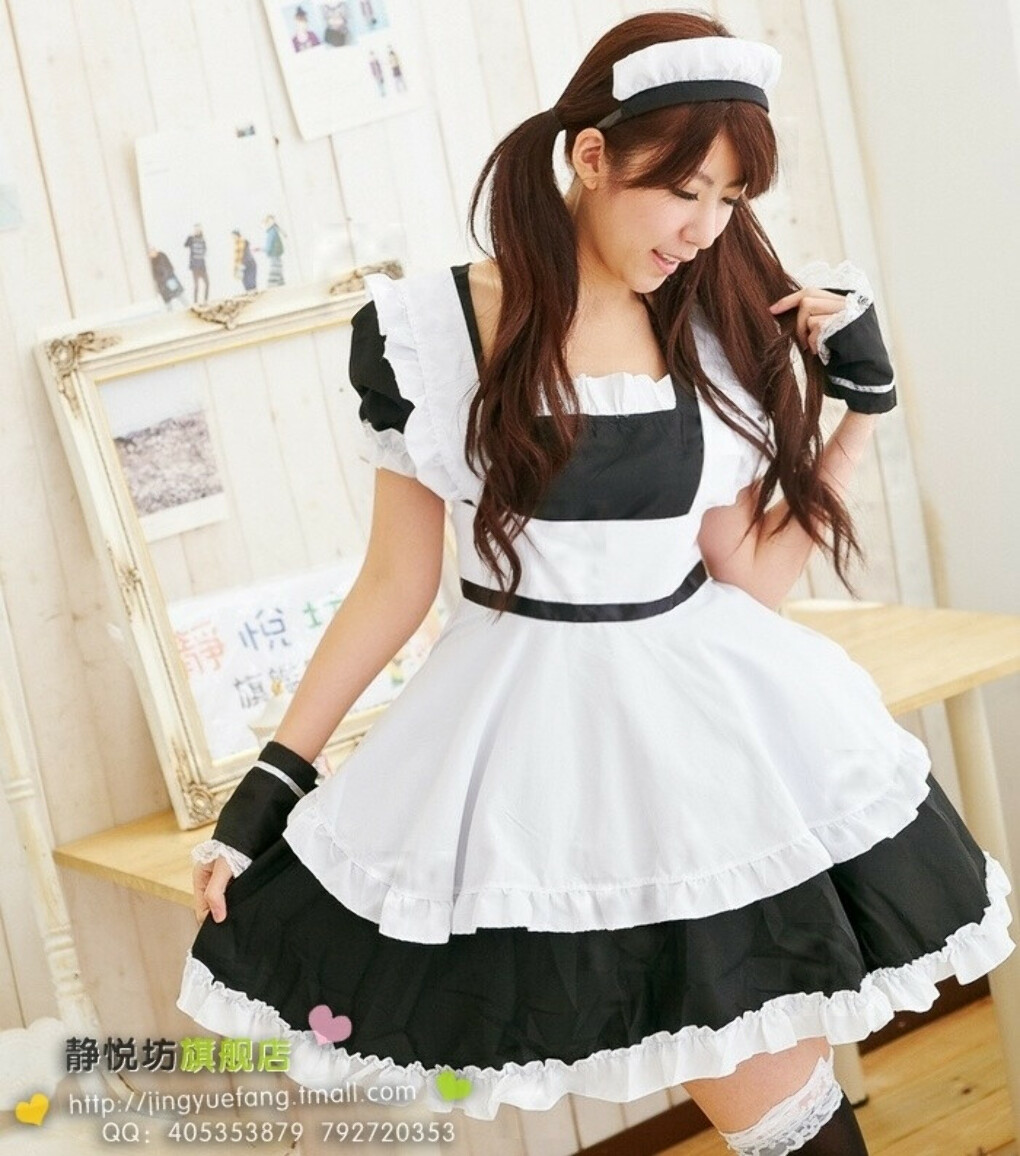 New Arrival Maid Cosplay   Black White Anime Cosplay  Halloween Costume for Women Free Shipping купить на AliExpress