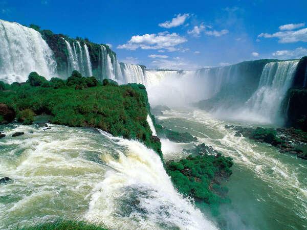 увидеть водопад