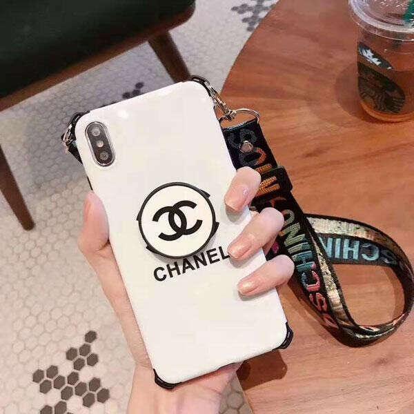 ブラント iPhone11/11 Proケース シャネル アイフォンXI/11R/XS MAXケース ペア CHANEL iphone xr/x/xs保護カバー ストラップ付き iphone 8/7/6 plusケース
