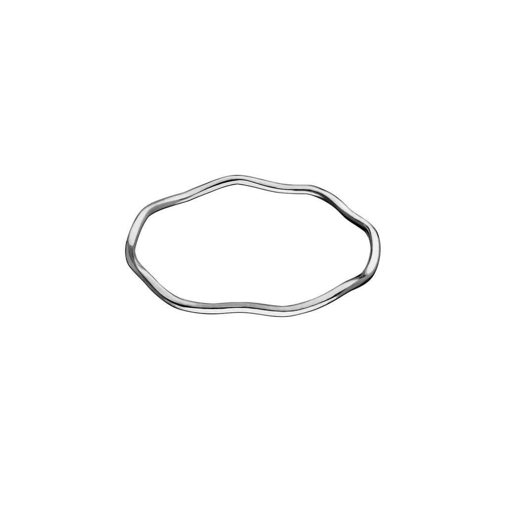 кольцо «волна» (белое золото)