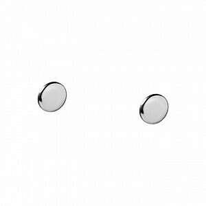 Пусеты-кнопки из серебра - Prosto Jewlry