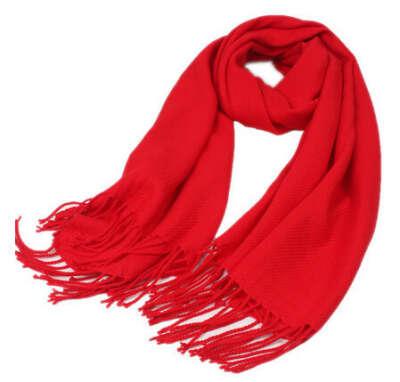 шарф красный