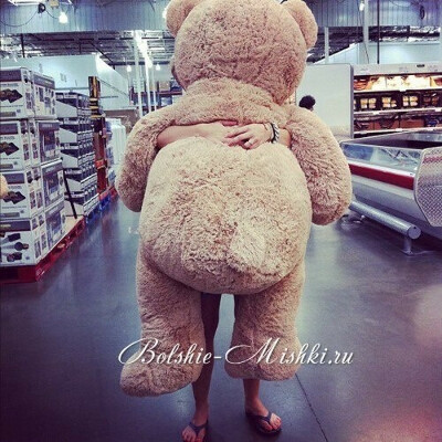 огромного плюшевого медведя