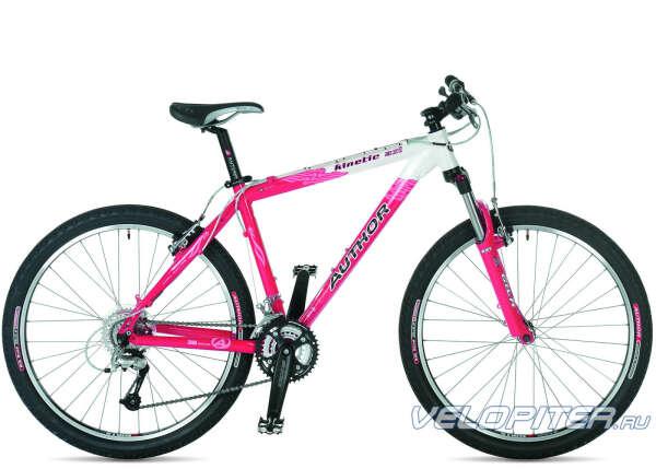 Горный бело-розовый велосипед!