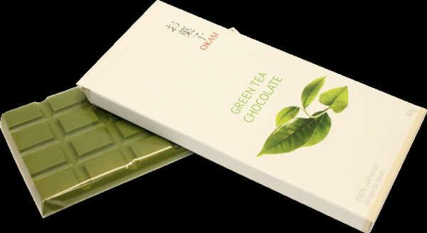 Зеленый шоколад с чаем матча