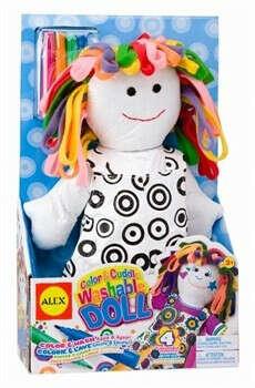 Игрушка для раскрашивания Раскрась Куклу с фломастерами ALEX