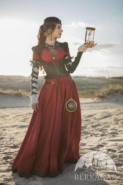 Средневековый костюм «Дочь алхимика». Платье, корсет и нижняя рубашка