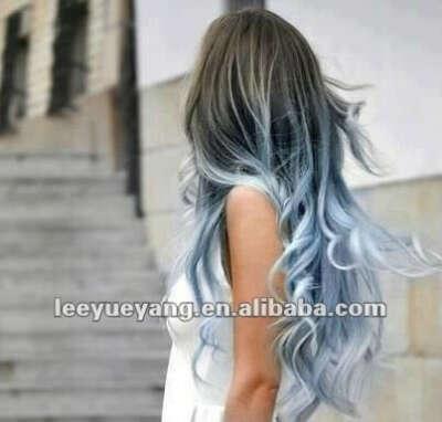 Хочу голубое или синие омбре