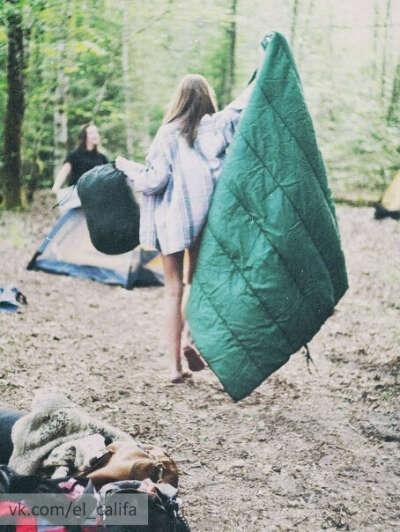 Отправиться в поход с друзьями)