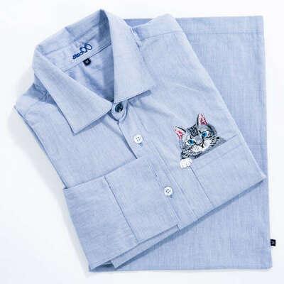 "Рубашка ""Кот в кармане"""
