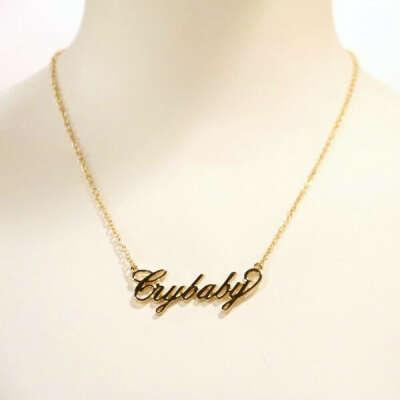 Melanie Martinez                                Crybaby Nameplate Necklace
