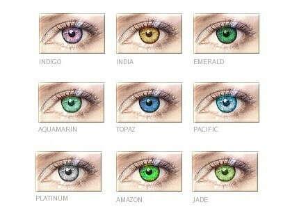 Цветные линзы. Черные, фиолетовые, красные, кошачий глаз