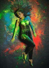 Фотосесию с сухими красками