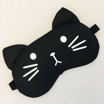 Маска для сна гелевая Black cat