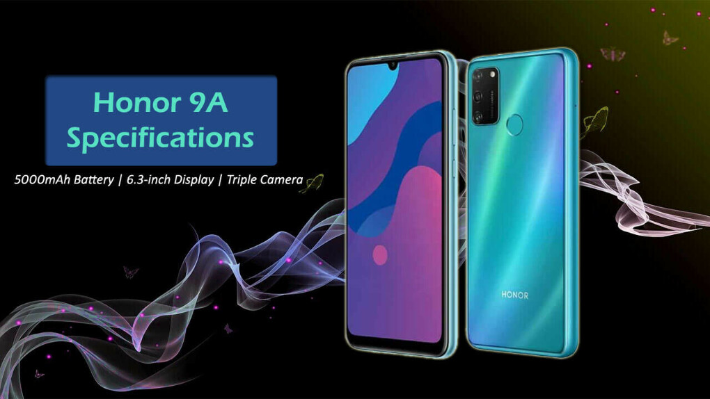 Honor 9A Specifications: 5000mAh Battery, 6.3-inch display | See Price