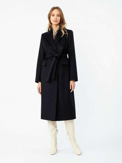 Пальто женское демисезонное Pompa, цвет черно-синий, артикул 1012331p10068