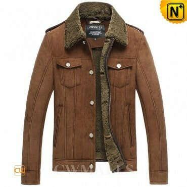 CWMALLS® Jefferson City Brown Sheepskin Jacket CW858311