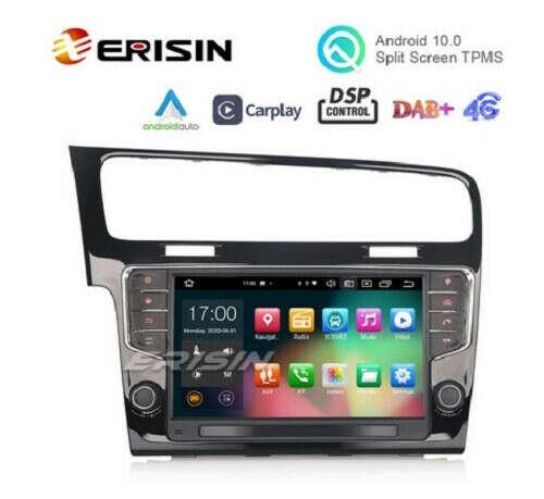 "Erisin ES8111G 9"" Android 10.0 Car Stereo for VW GOLF VII/7 DAB+ DSP CarPlay & Auto 64G GPS Sat Navi - Erisinworldwide"