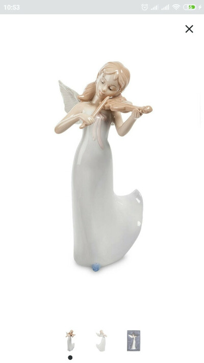 Фигурка ангела со скрипкой