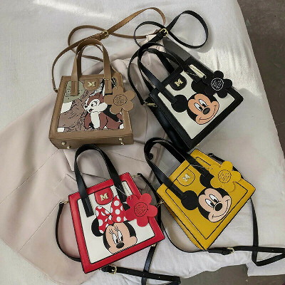 538.81руб. 25% СКИДКА Новинка 2021, рюкзак Disney для женщин, сумка из искусственной кожи с Микки Маусом из мультфильма для девушек, модный рюкзак через плечо, Подарочные игрушки Плюшевые рюкзаки    АлиЭкспресс