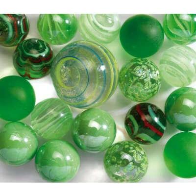 Стеклянные шарики Марблс зеленые