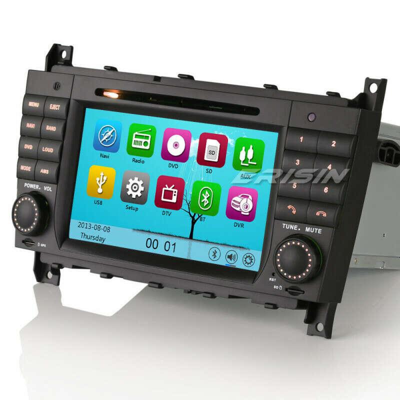 "ERISIN ES7508M 7"" CAR STEREO DVD GPS SAT NAV 3G DVR/DTV-IN FOR BENZ C CLASS W203 CLK W209"