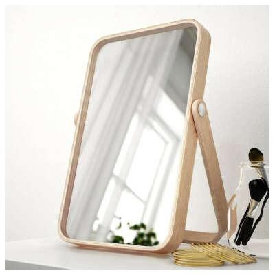 ИКОРННЕС Зеркало настольное - ясень - IKEA