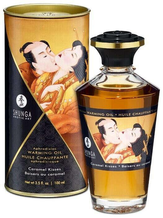 SHUNGA Массажное масло разогревающее с ароматом карамели