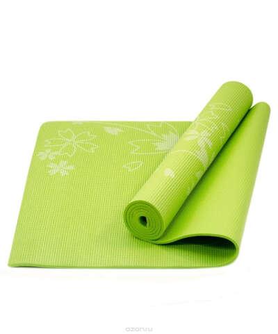"""Коврик для йоги """"Star Fit"""", цвет: зеленый, 173 x 61 x 0,5 см. FM-102"""