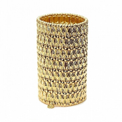 Золотистый геометрический браслет-манжет Alester - Philippe Audibert