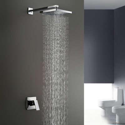 Chrome Wall Mount Rain Shower Faucet At FaucetsDeal.com