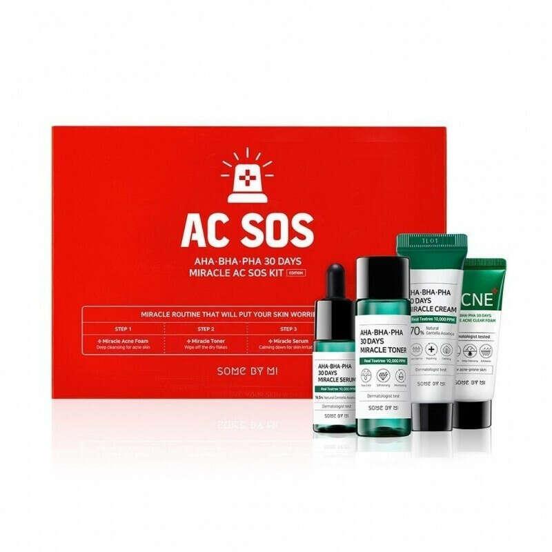 Набор миниатюр кислотных средств для проблемной кожи Some By Mi AHA-BHA-PHA 30 Days Miracle Starter