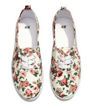 Кеды в цветочек от H&M
